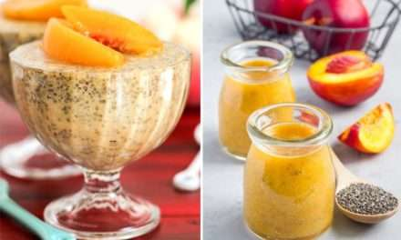 [Recipe] 2-For-1 Peach and Ginger Chia Pudding Smoothie