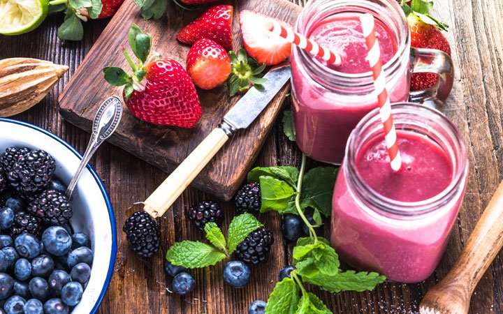 [Recipe] Banana Berry Protein Smoothie