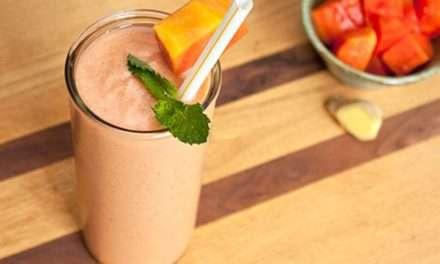 [Recipe] Tummy Health Papaya Ginger Smoothie