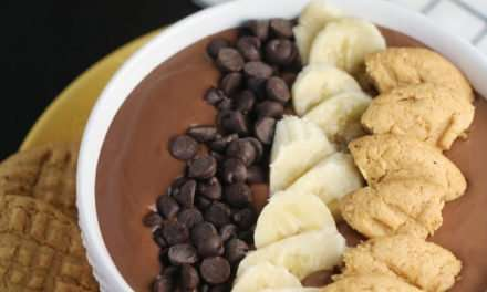 [Recipe] Chocolate Peanut Butter Smoothie Dessert with PB Cookies