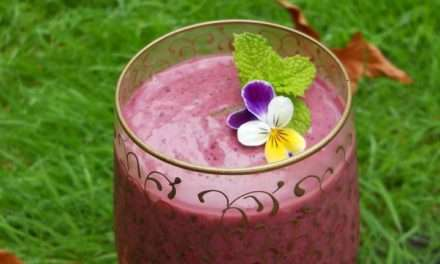 [Recipe] Plum Almond Blueberry Smoothie