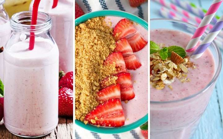 [Recipe] Strawberry Smoothie 3 Ways