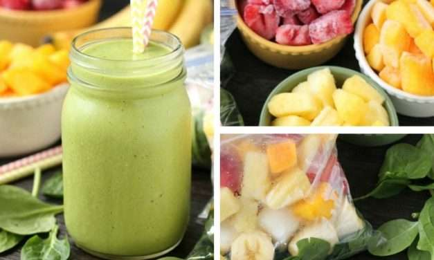 [Recipe] Freezer-Packs for Quicker Mornings Plus A Basic Green Smoothie The Kids Will Beg You For