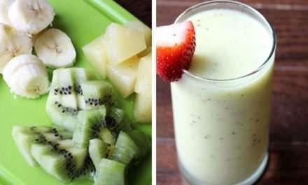 [Recipe] Skinny Kiwi Pineapple Smoothie