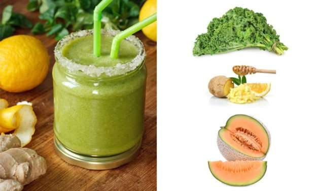 [Recipe] Lemon Ginger and Sweet Melon Green Smoothie