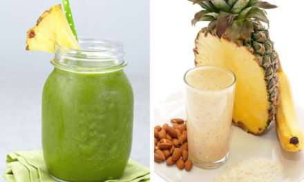 [Recipe] Almond Butter Pineapple Smoothie for Under 200 Calories
