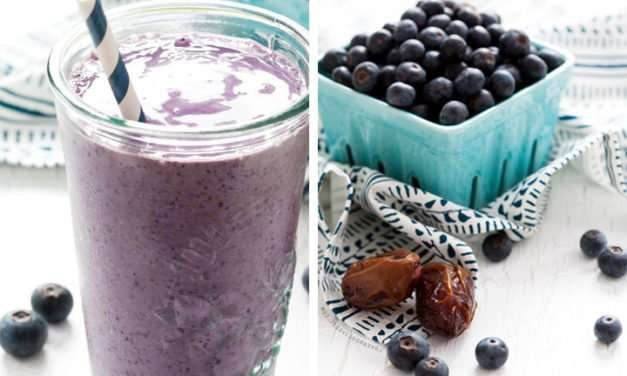 [Recipe] Banana Blueberry Almond Butter Smoothie for Weight Loss