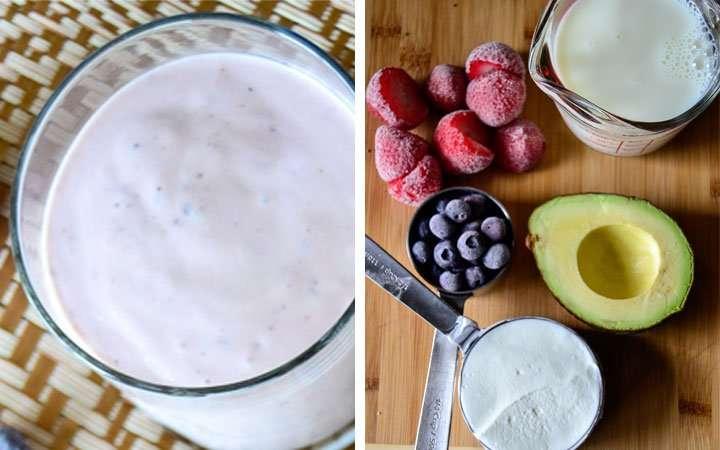 [Recipe] Creamy Avocado Berry Smoothie for 220 Calories