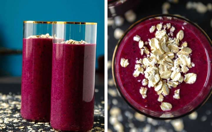 [Recipe] Blueberry Vanilla n Toasted Oat Smoothie Meal