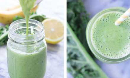 [Recipe] Peach Kale n Banana Smoothie for Under 200 Calories