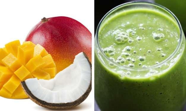 [Recipe] Tasty Tropical Mango Coconut Green Smoothie