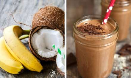 [Recipe] Coconut Chocolate Banana Smoothie for 130 Calories