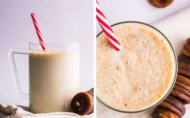 [Recipe] Banana Coconut Fig Smoothie from 170 Calories