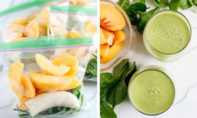[Recipe] Peach Ginger Coconut Smoothie for Just 190 Calories
