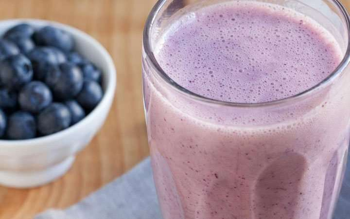 [Recipe] Banana Blueberry Smoothie only 140 Calories