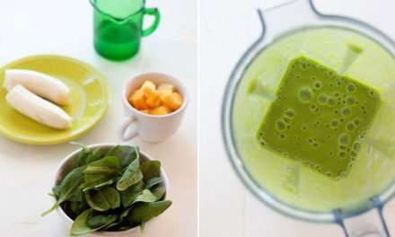 [Recipe] 4-Ingredient Tropical Green Smoothie Just 100 Cals