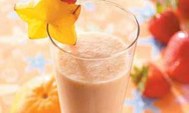 [Recipe] Strawberry Peach Smoothie for 100 Calories