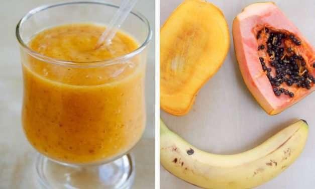 [Recipe] Papaya Mango Smoothie from 125 Calories