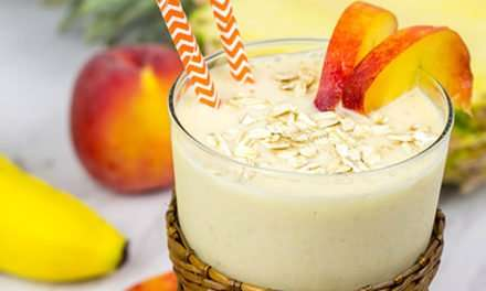 [Recipe] Tropical Toasted Oat Smoothie