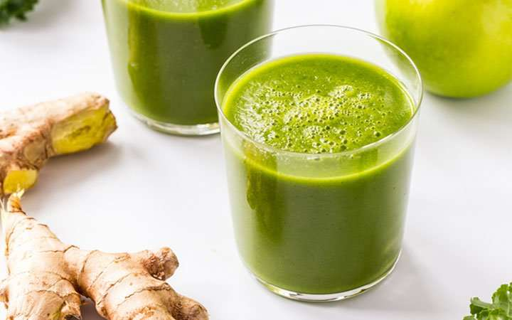 [Recipe] Green Apple Ginger Smoothie from 150 Calories