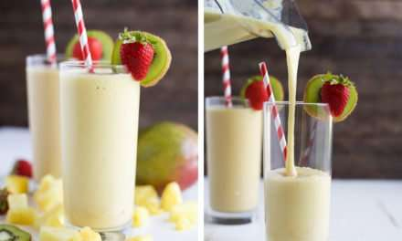 [Recipe] Pineapple Mango Tropical Smoothie from 145 Calories