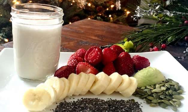 [Recipe] Red Green and White Christmas Smoothie